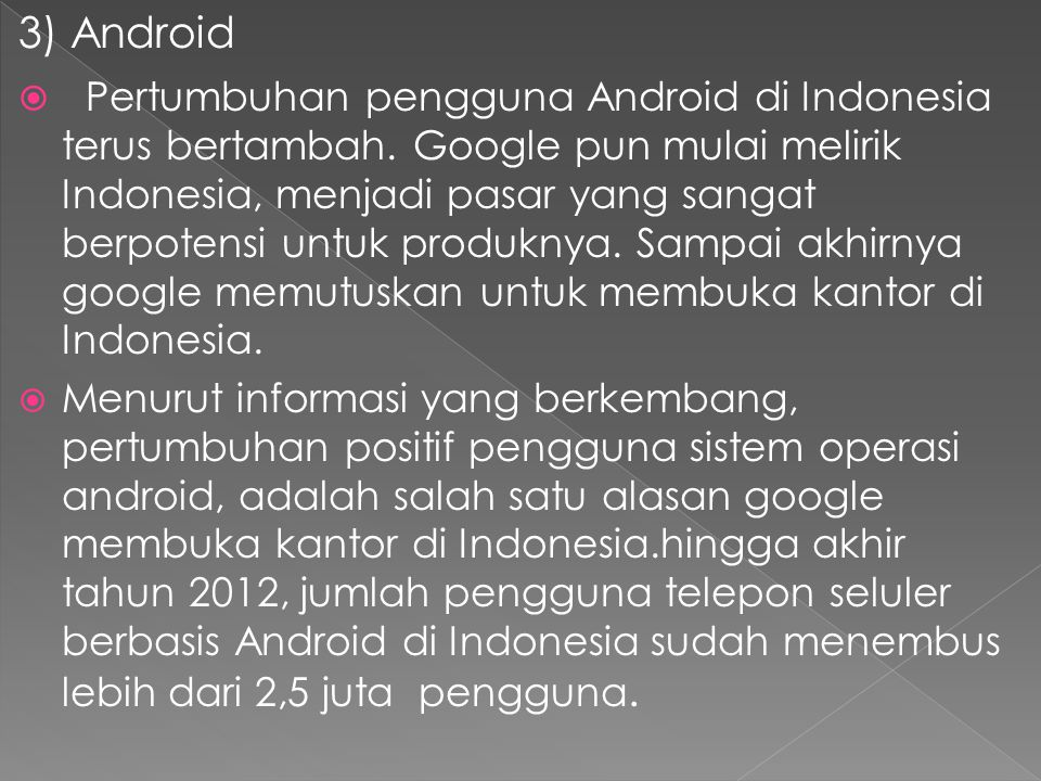 3) Android
