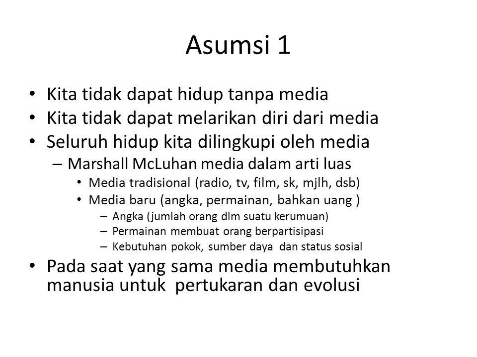 Asumsi 1 Kita tidak dapat hidup tanpa media