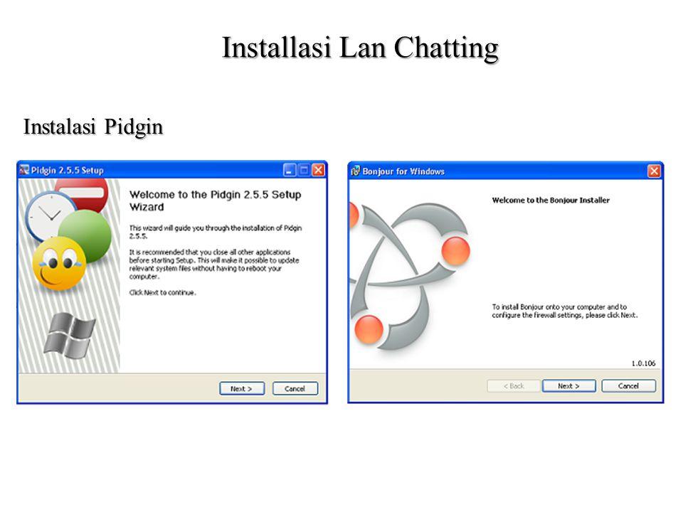 Installasi Lan Chatting