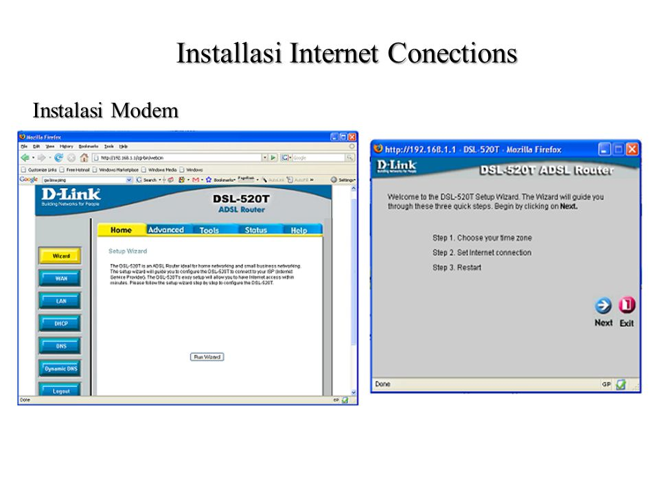 Installasi Internet Conections