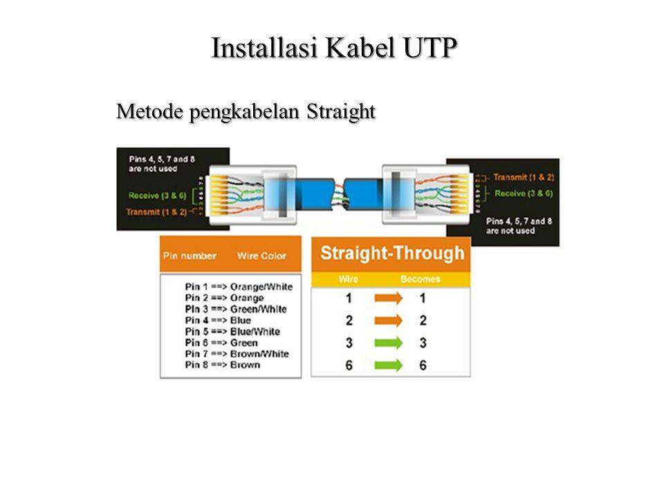 Installasi Kabel UTP Metode pengkabelan Straight