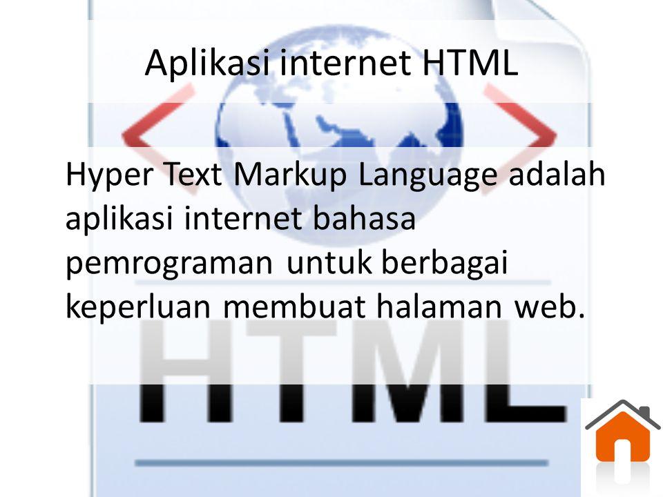 Aplikasi internet HTML