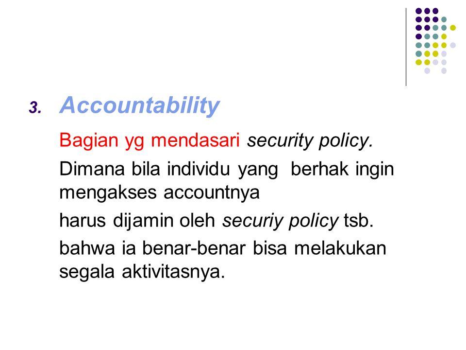 Bagian yg mendasari security policy.