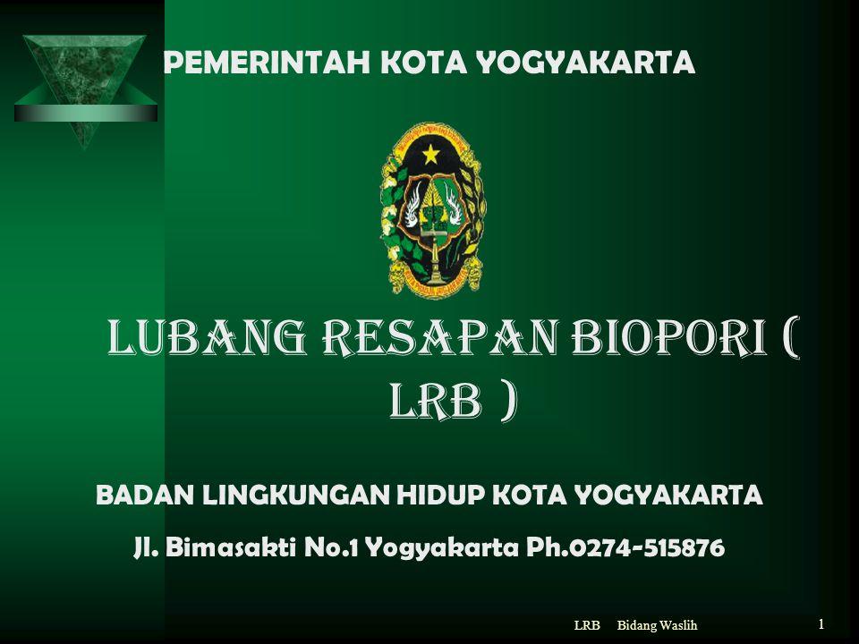 LUBANG RESAPAN BIOPORI ( LRB )