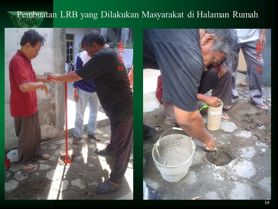Pembuatan LRB yang Dilakukan Masyarakat di Halaman Rumah