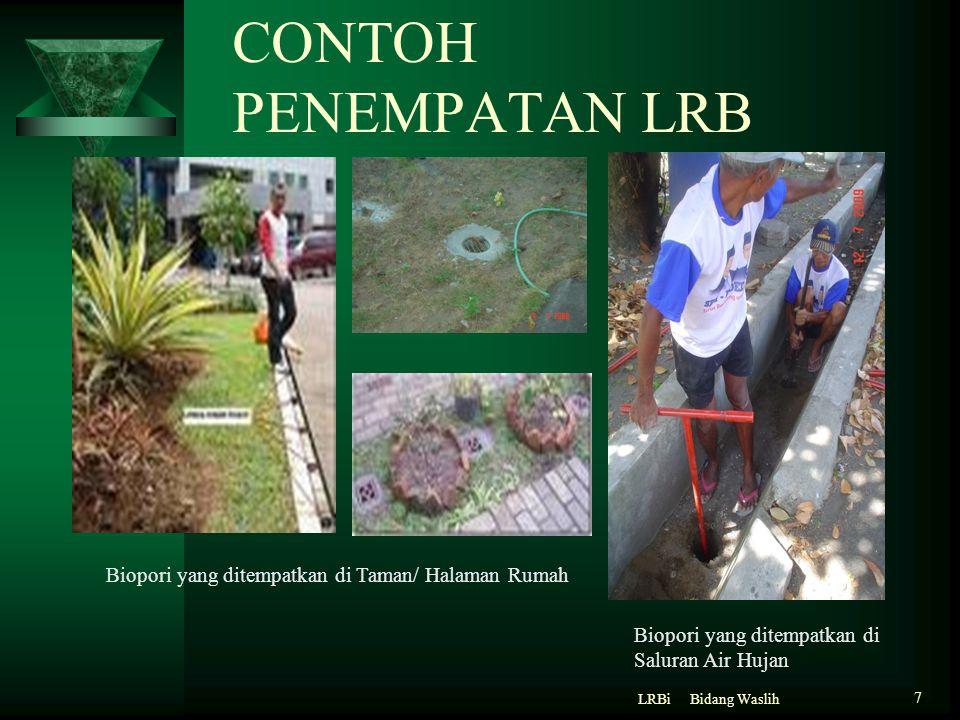 CONTOH PENEMPATAN LRB Biopori yang ditempatkan di Taman/ Halaman Rumah