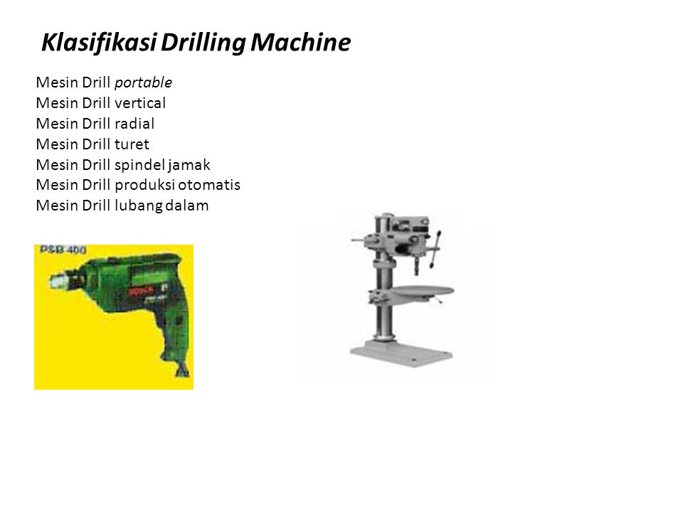 Klasifikasi Drilling Machine