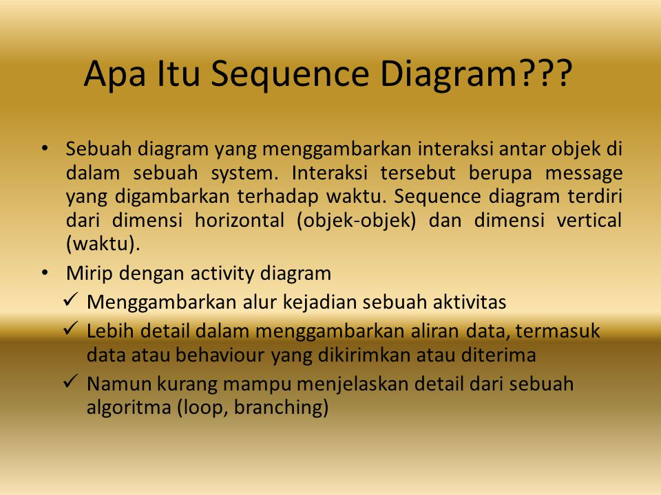 Apa Itu Sequence Diagram