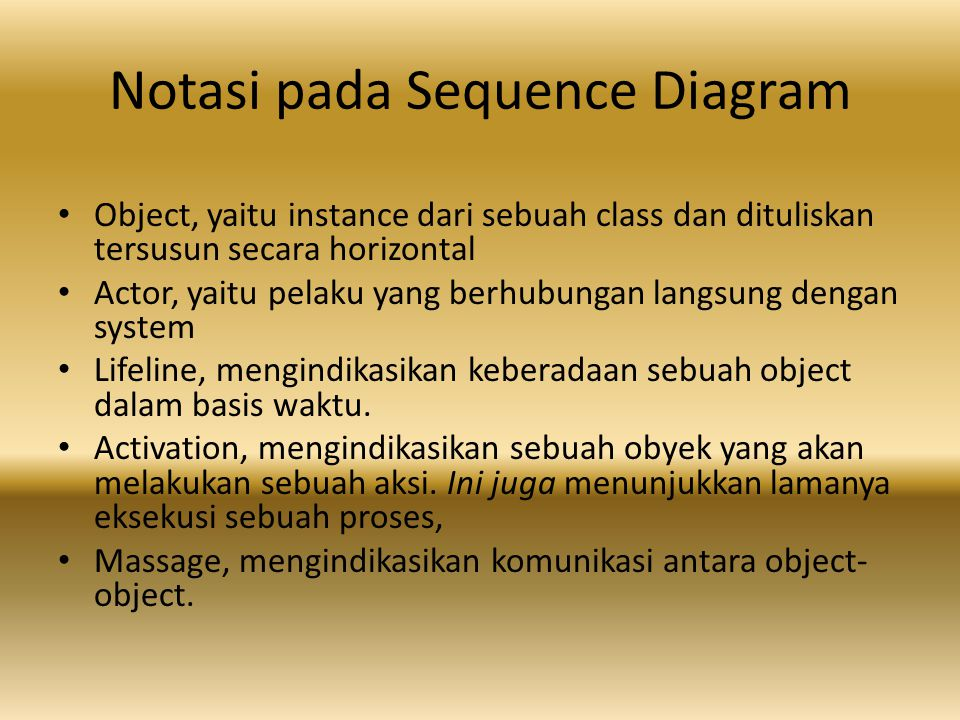 Notasi pada Sequence Diagram