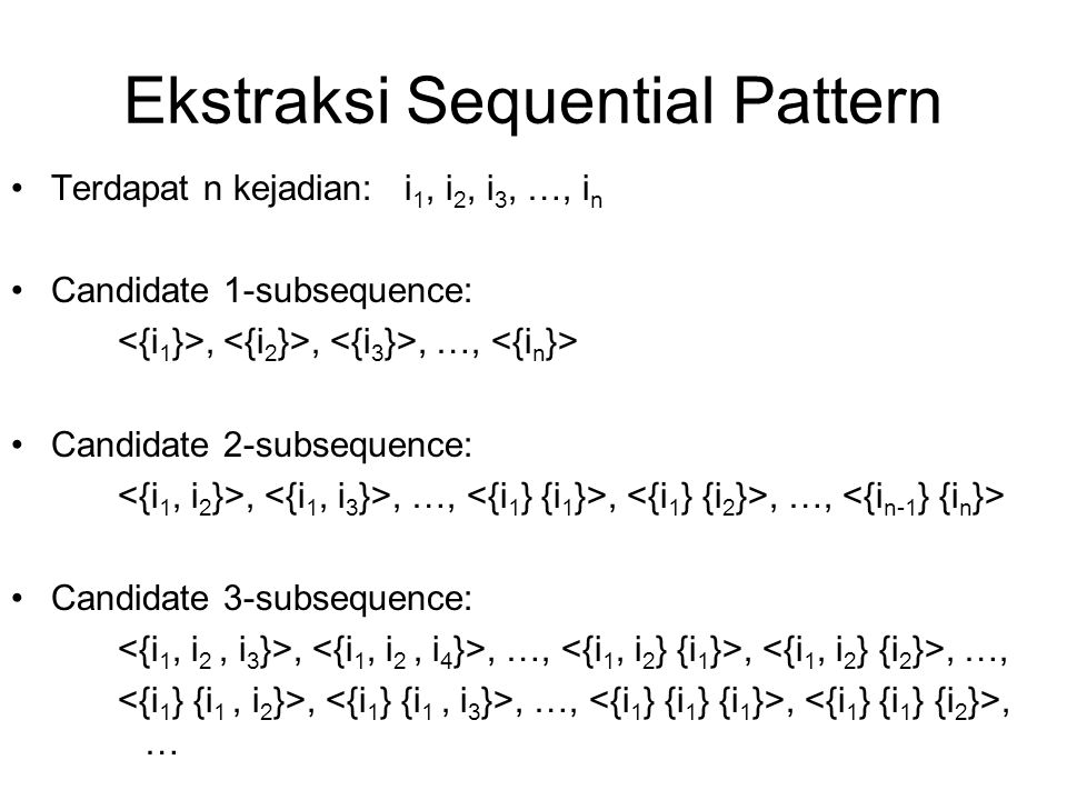 Ekstraksi Sequential Pattern