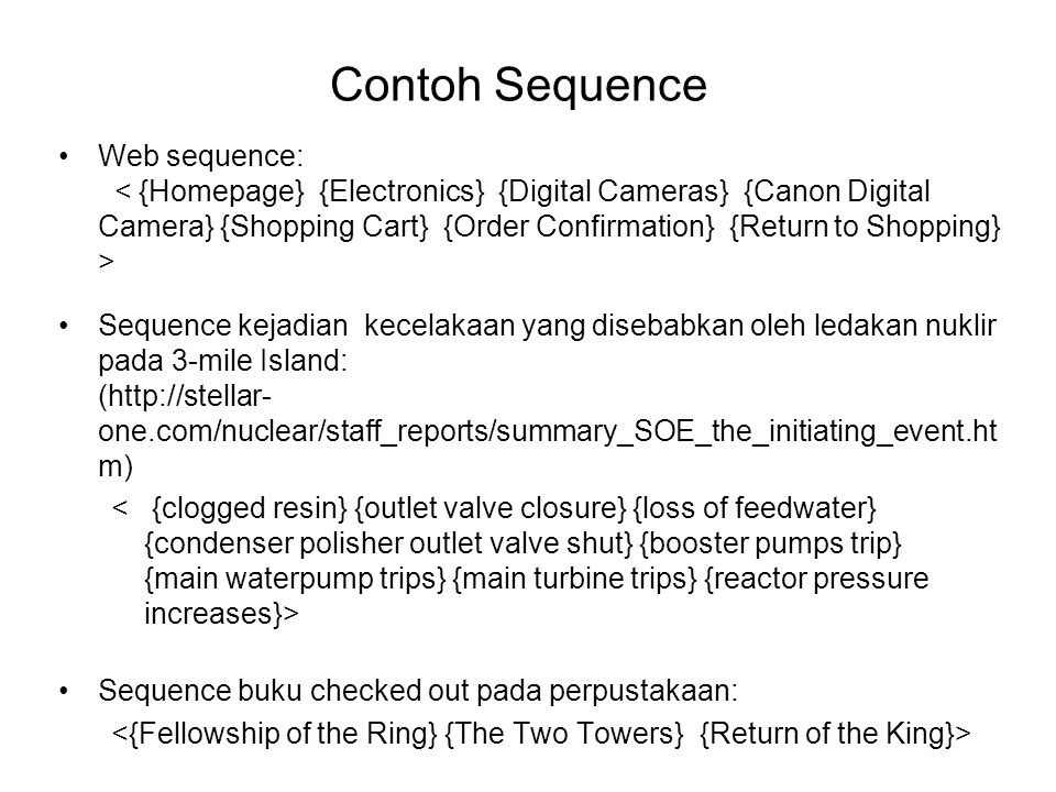 Contoh Sequence