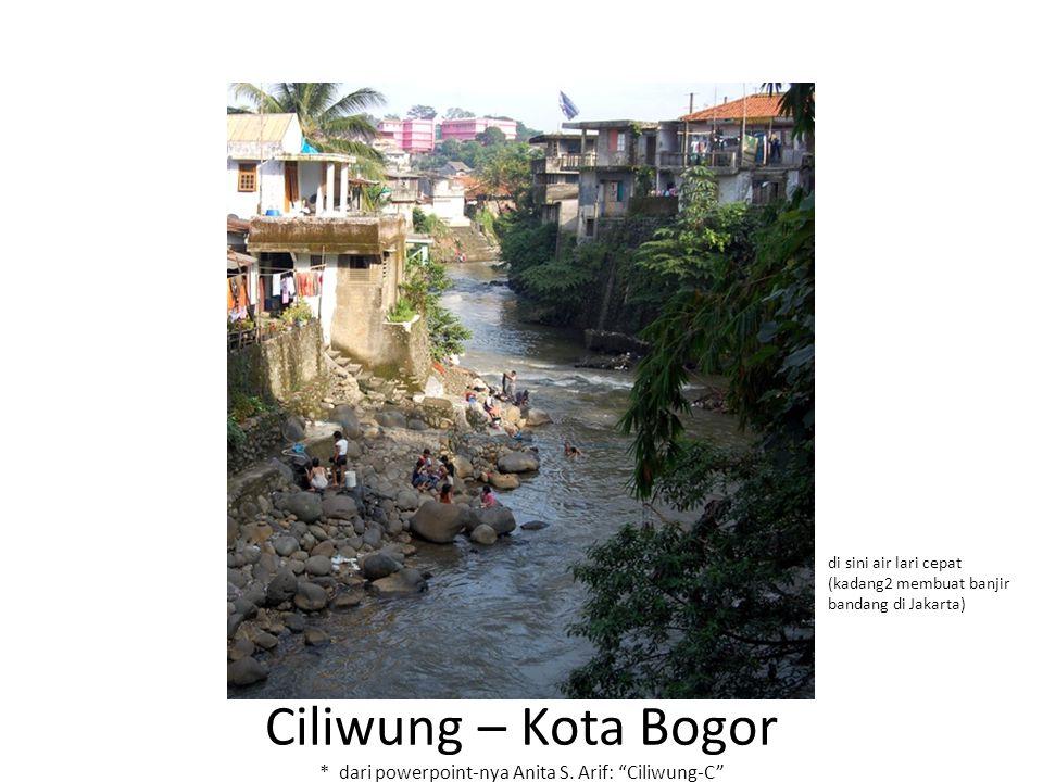 di sini air lari cepat (kadang2 membuat banjir bandang di Jakarta)