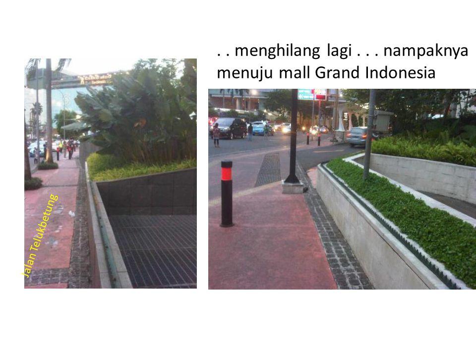. . menghilang lagi . . . nampaknya menuju mall Grand Indonesia