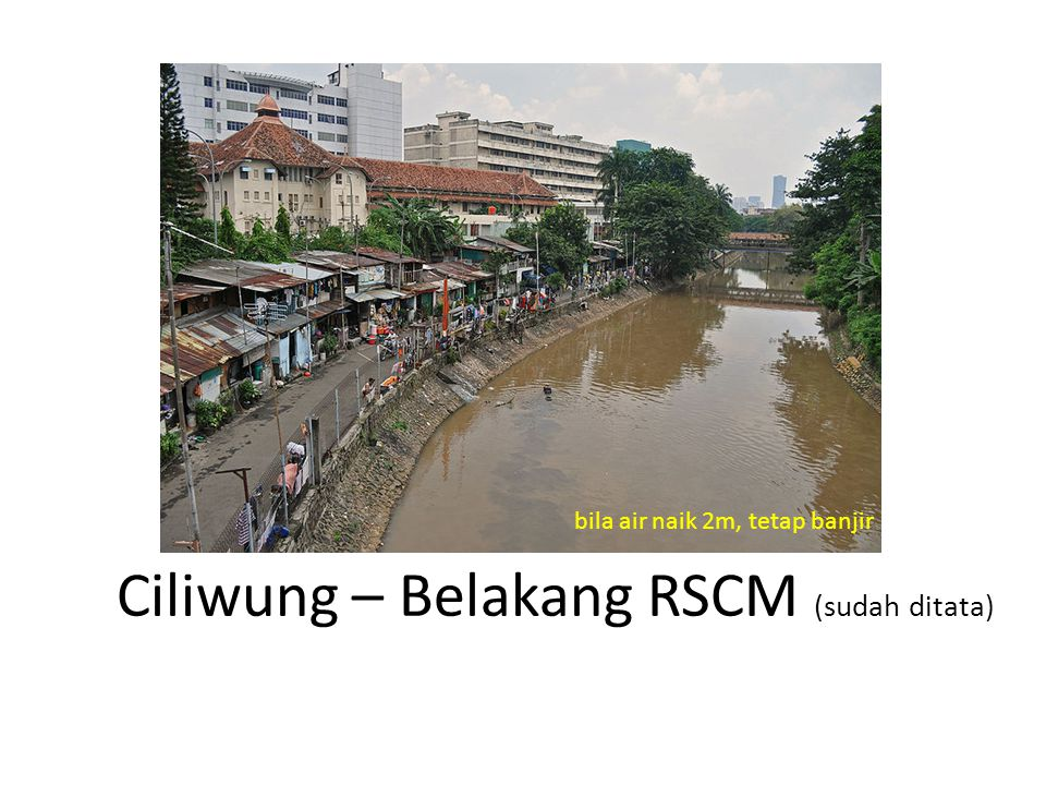 Ciliwung – Belakang RSCM (sudah ditata)