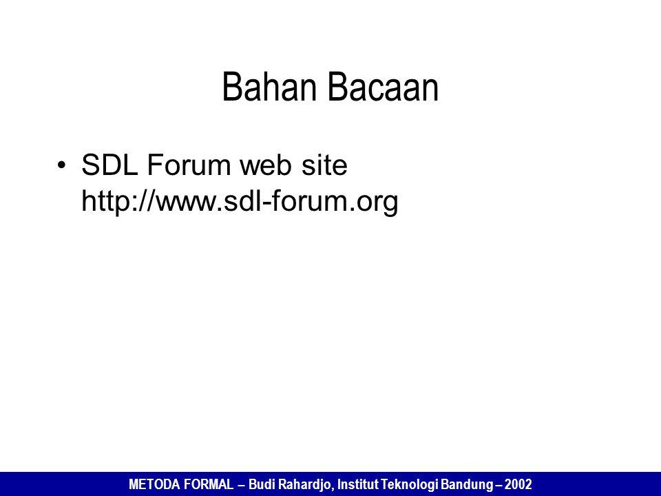Bahan Bacaan SDL Forum web site http://www.sdl-forum.org