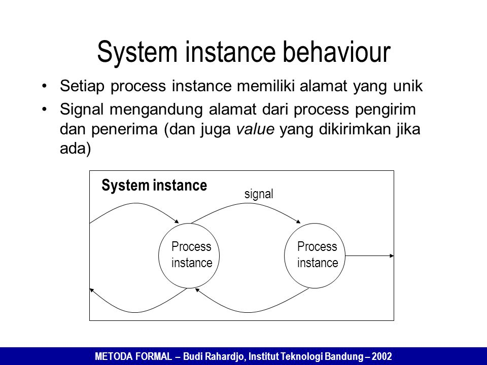 System instance behaviour