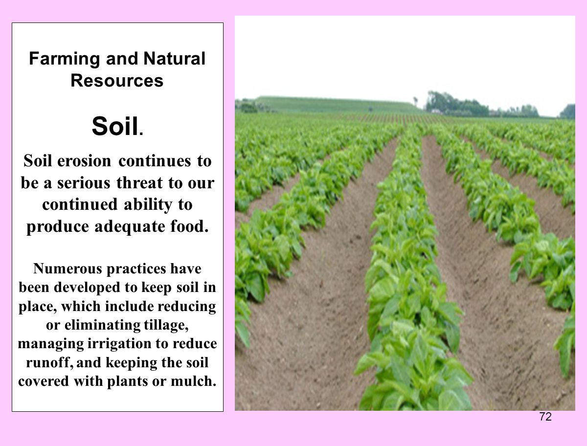 Farming and Natural Resources