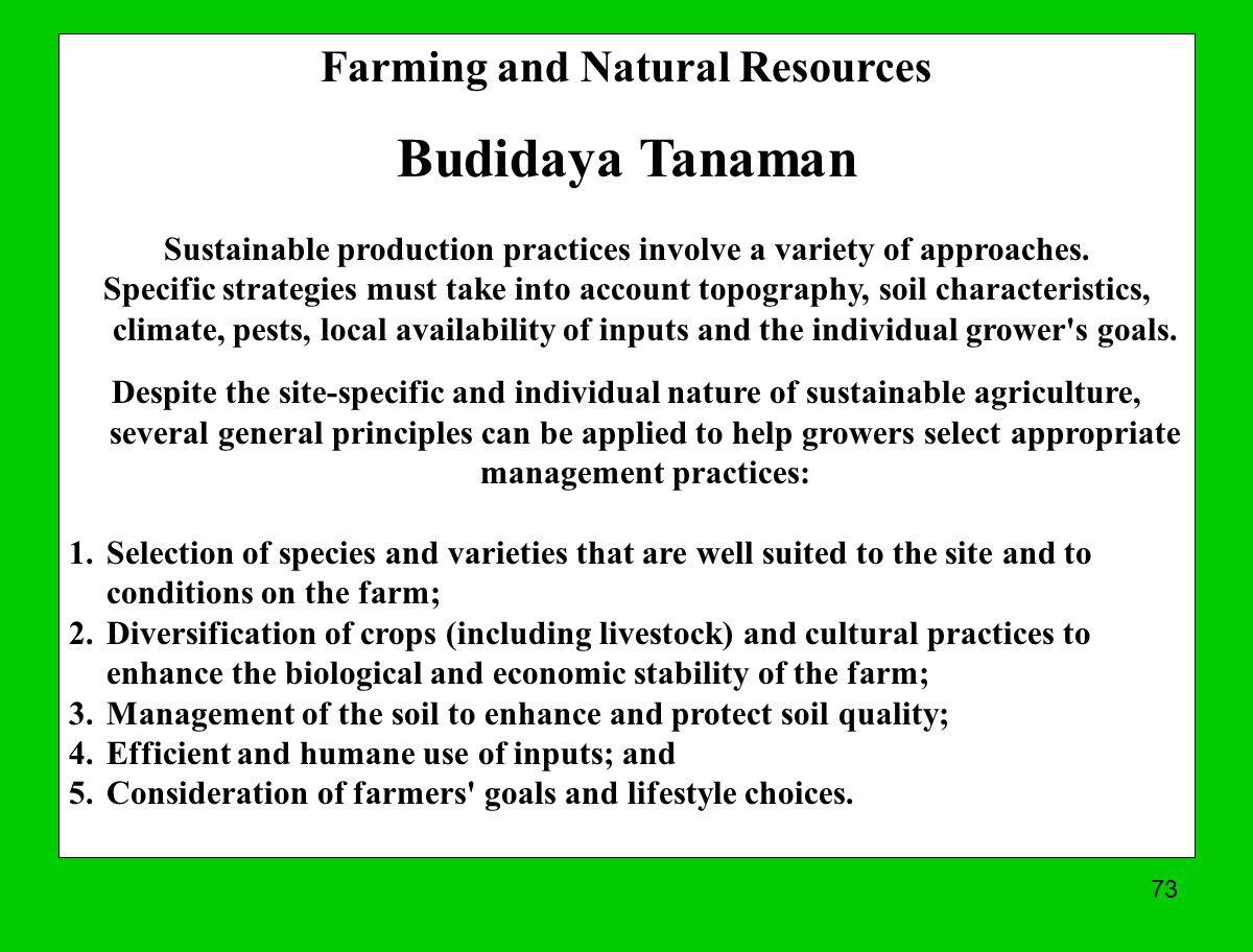 Budidaya Tanaman Farming and Natural Resources