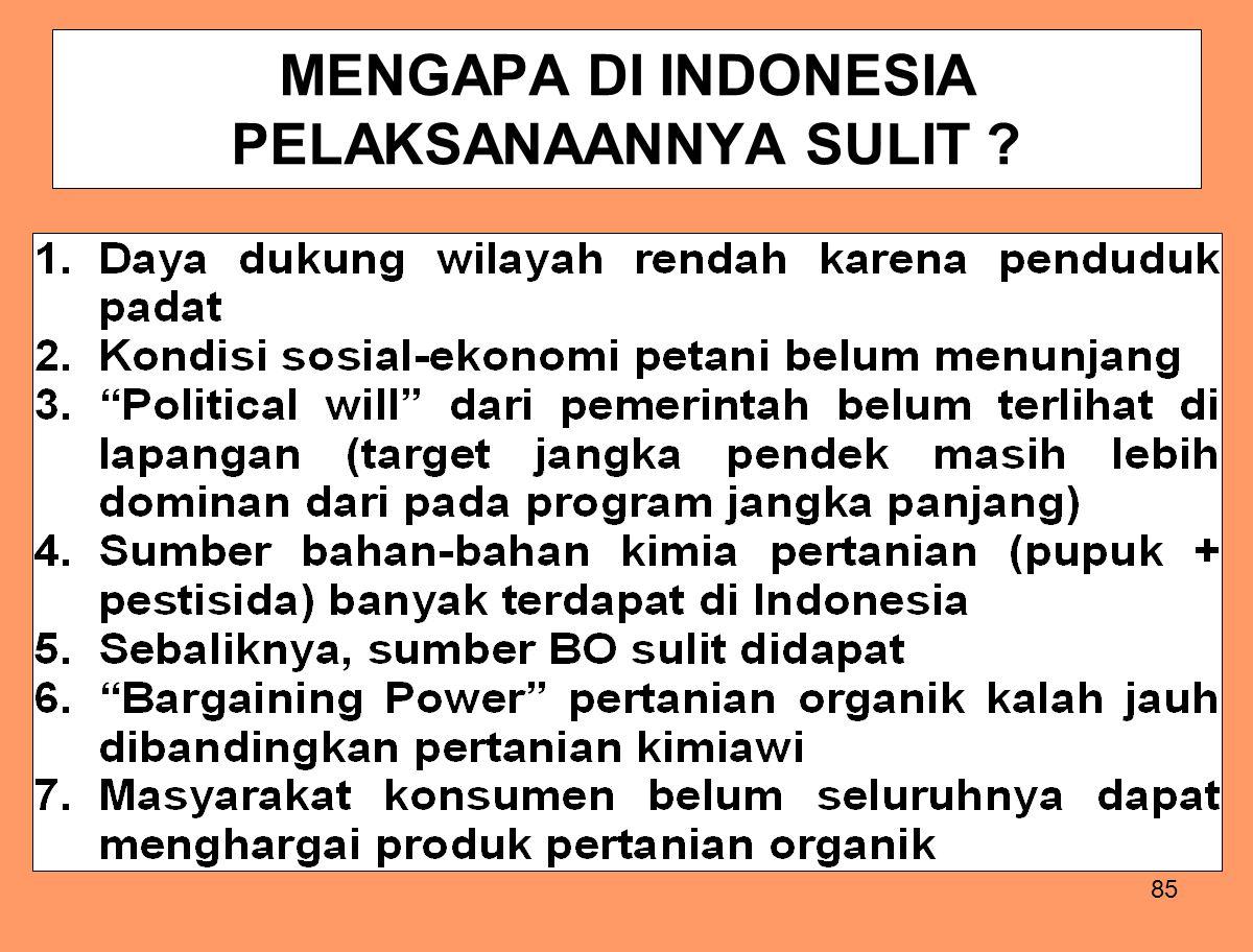 MENGAPA DI INDONESIA PELAKSANAANNYA SULIT