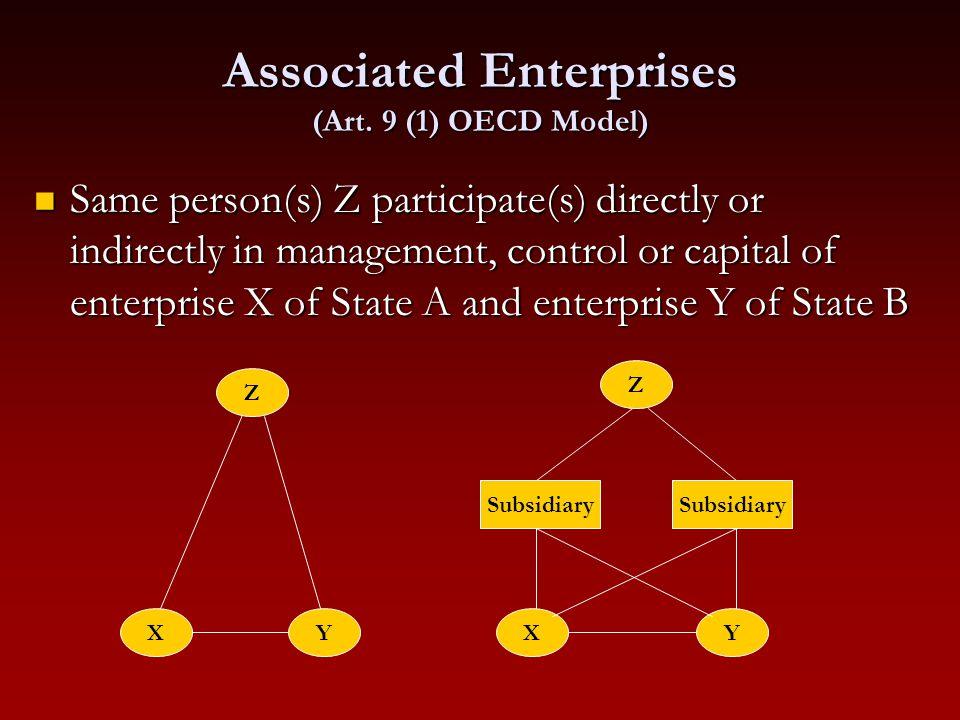 Associated Enterprises (Art. 9 (1) OECD Model)