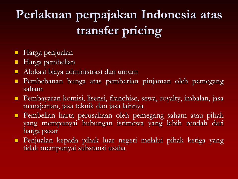 Perlakuan perpajakan Indonesia atas transfer pricing