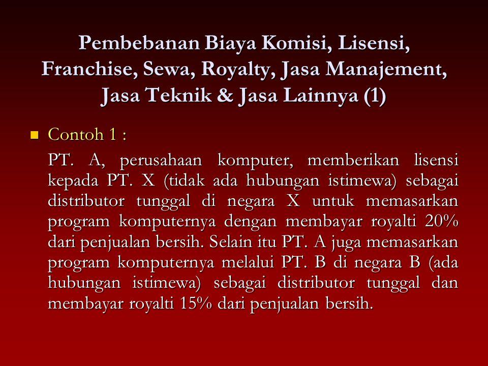 Pembebanan Biaya Komisi, Lisensi, Franchise, Sewa, Royalty, Jasa Manajement, Jasa Teknik & Jasa Lainnya (1)