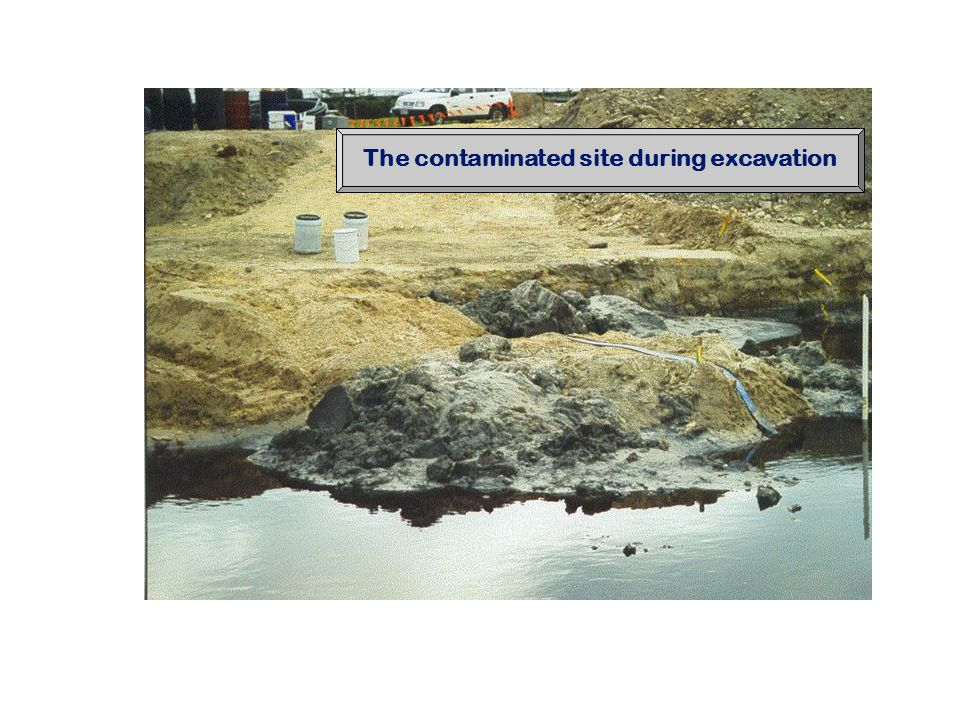 The contaminated site during excavation