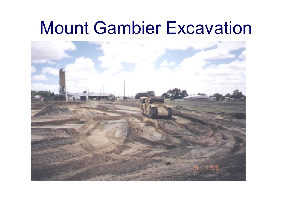 Mount Gambier Excavation