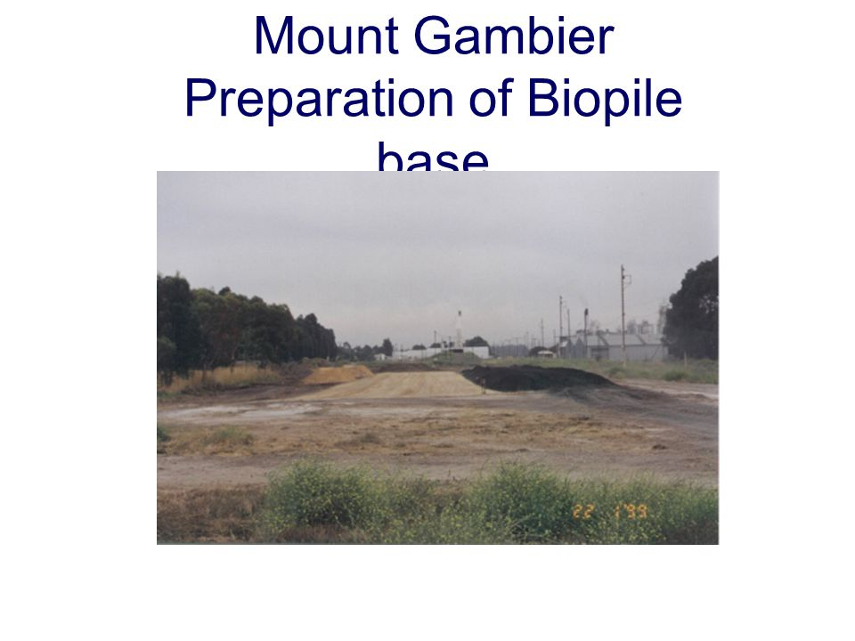 Mount Gambier Preparation of Biopile base