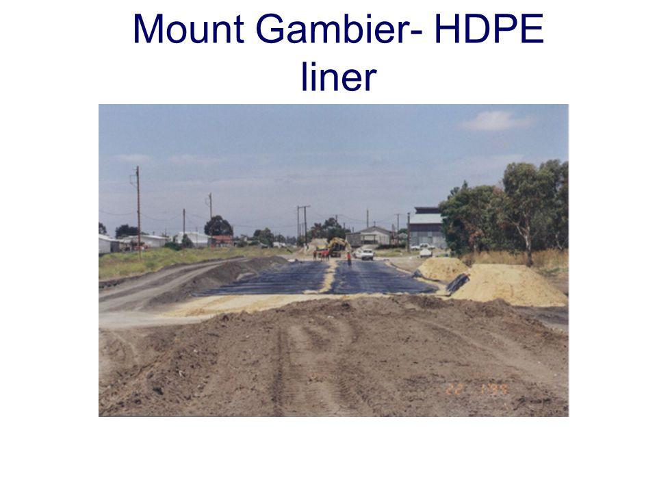 Mount Gambier- HDPE liner