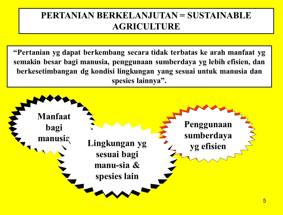 PERTANIAN BERKELANJUTAN = SUSTAINABLE AGRICULTURE
