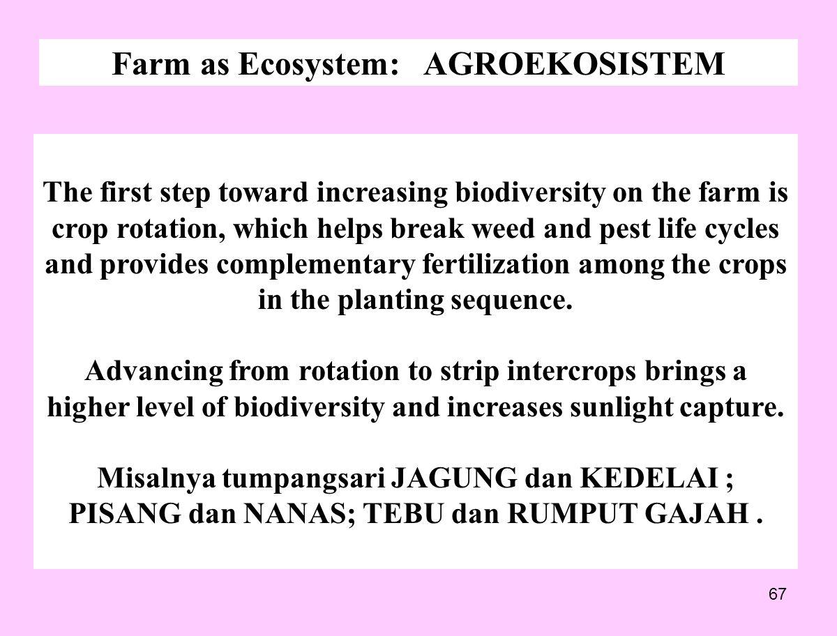 Farm as Ecosystem: AGROEKOSISTEM