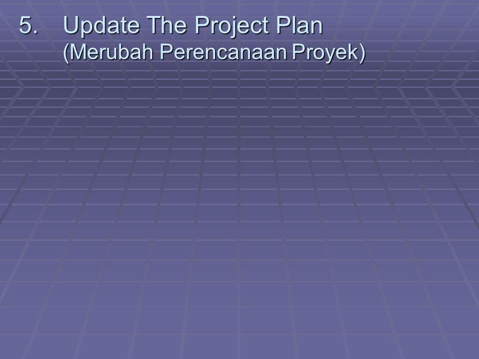 Update The Project Plan (Merubah Perencanaan Proyek)