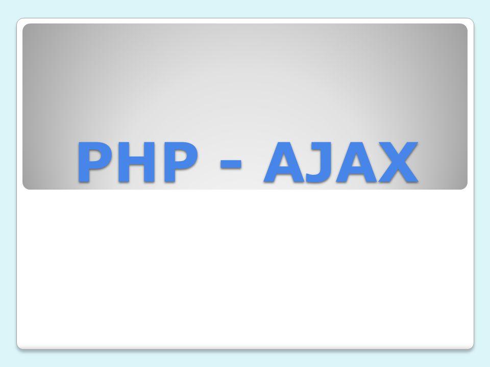 PHP - AJAX