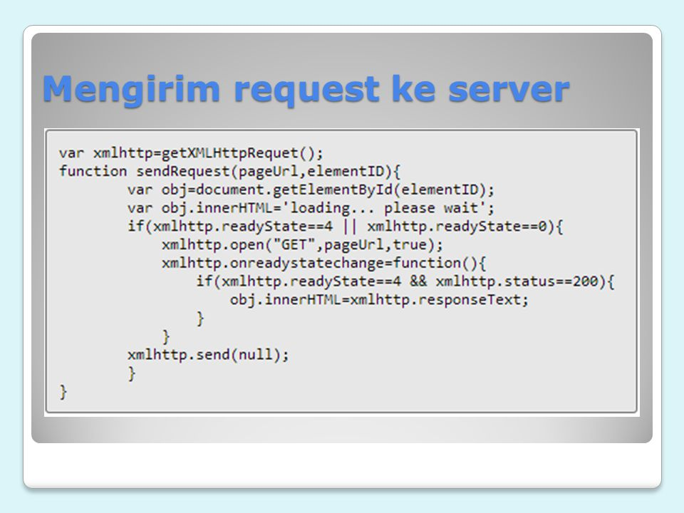 Mengirim request ke server