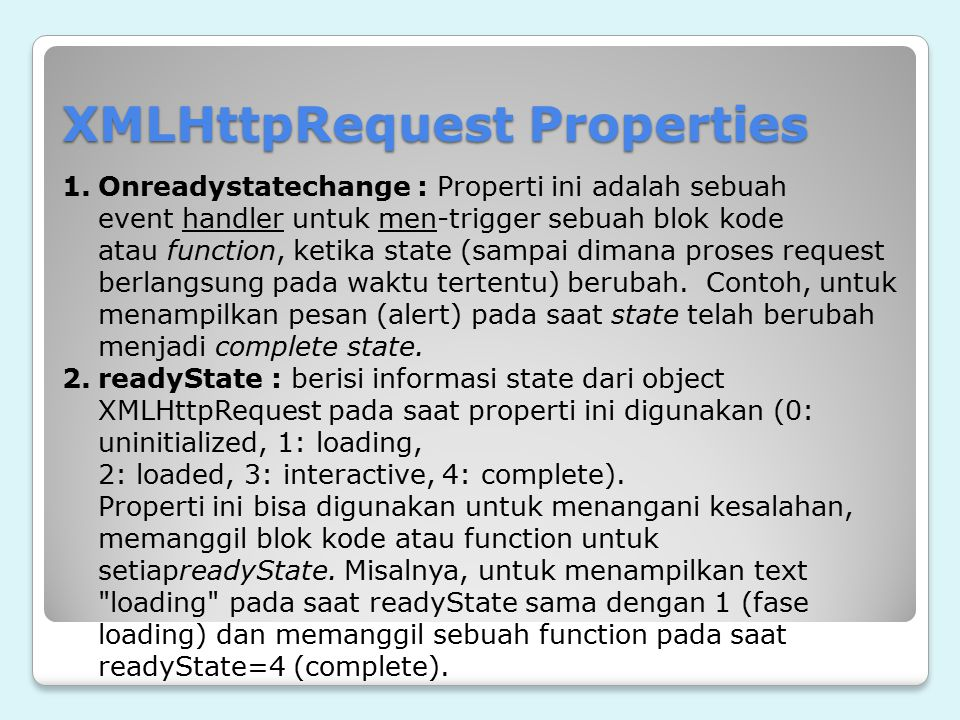 XMLHttpRequest Properties