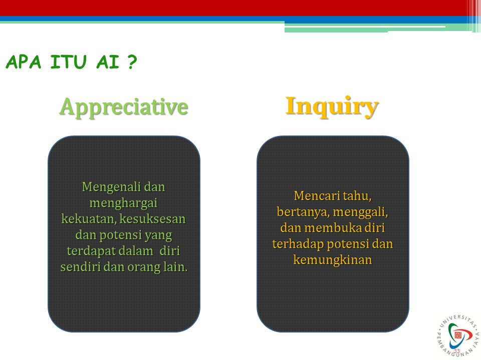 Appreciative Inquiry APA ITU AI