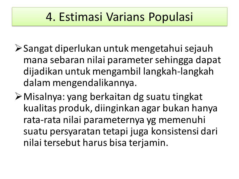 4. Estimasi Varians Populasi