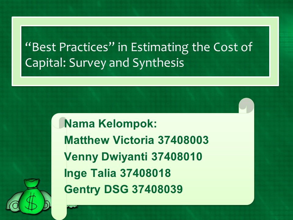 Best Practices in Estimating the Cost of Capital: Survey and Synthesis