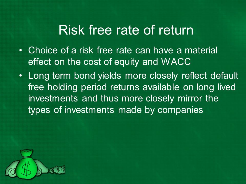Risk free rate of return