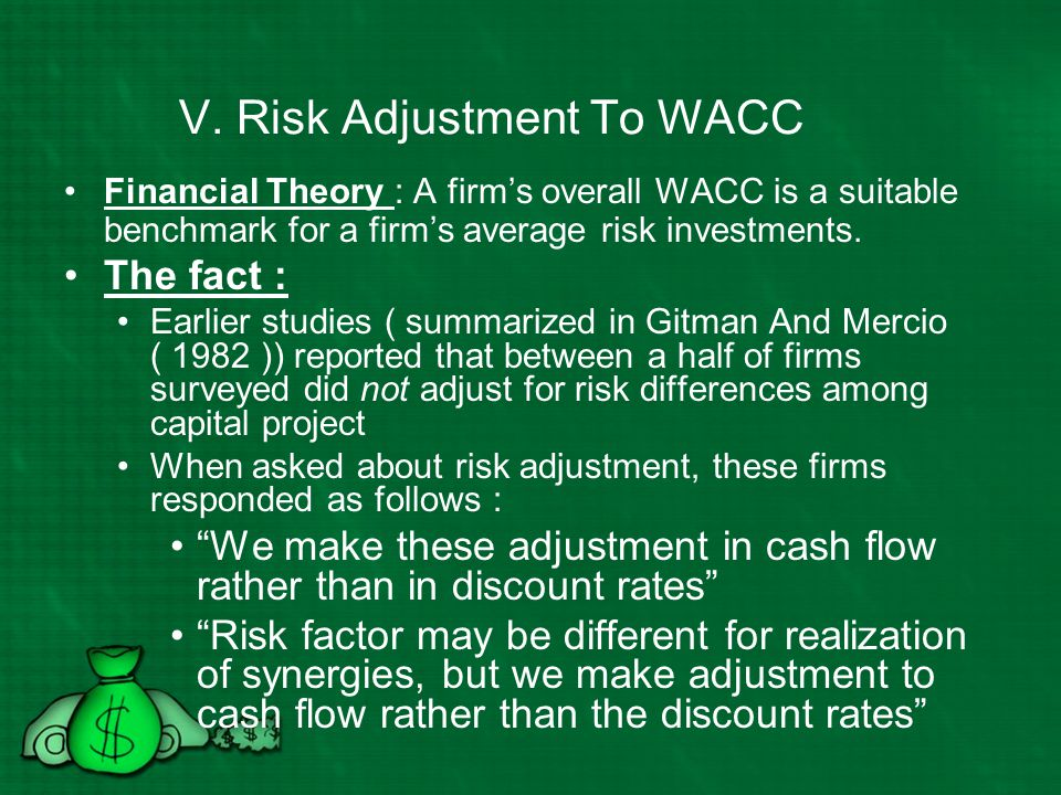V. Risk Adjustment To WACC