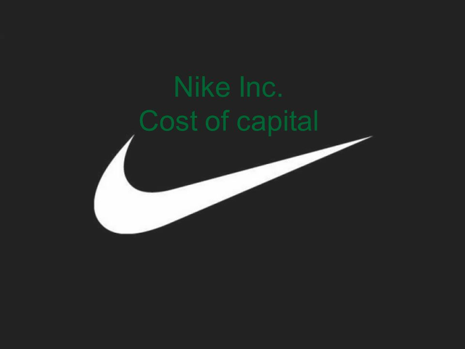 Nike Inc. Cost of capital