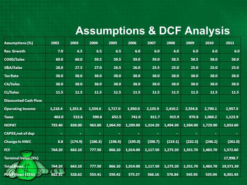Assumptions & DCF Analysis