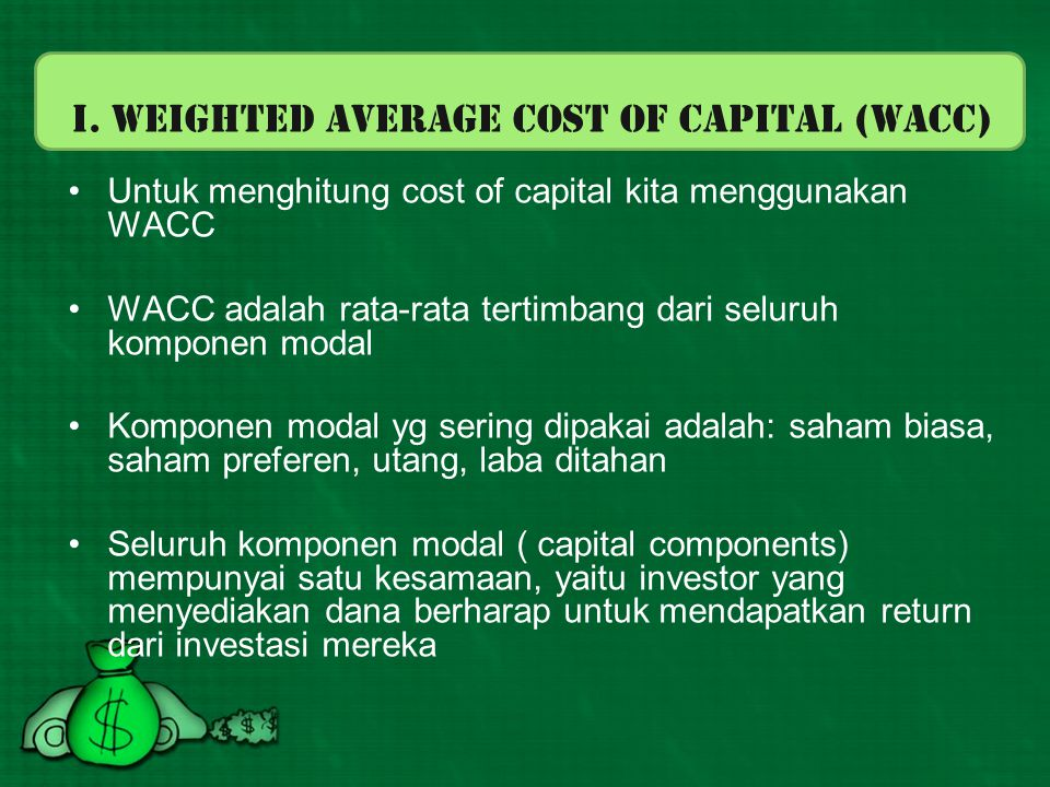 I. Weighted Average Cost of Capital (WACC)