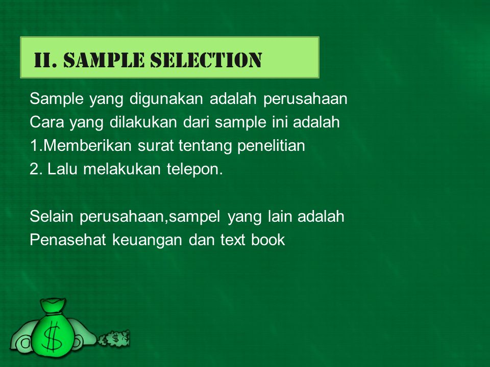 II. Sample Selection