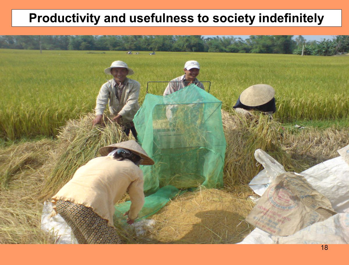 Productivity and usefulness to society indefinitely