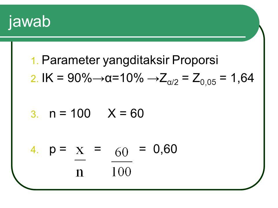 jawab Parameter yangditaksir Proporsi