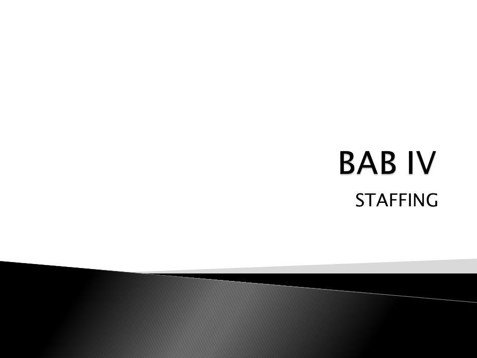 BAB IV STAFFING