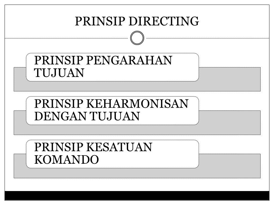 PRINSIP DIRECTING PRINSIP PENGARAHAN TUJUAN