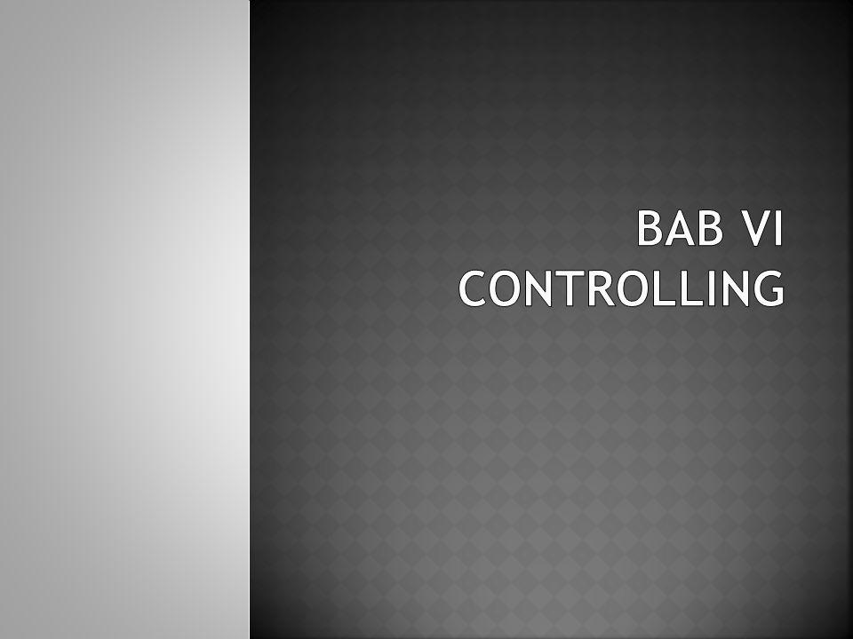 BAB VI CONTROLLING